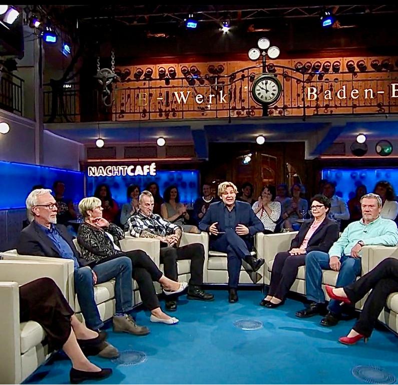 """Talkrunde der Sendung """"Pulverfass Erbe"""". Quelle SWR"""